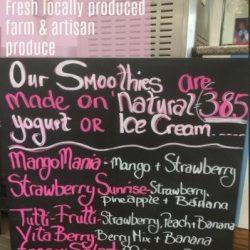 Ice cream and Fresh Smoothies available at the Trading Post
